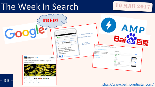 The Week In Search SEO News 10 Mar 2017
