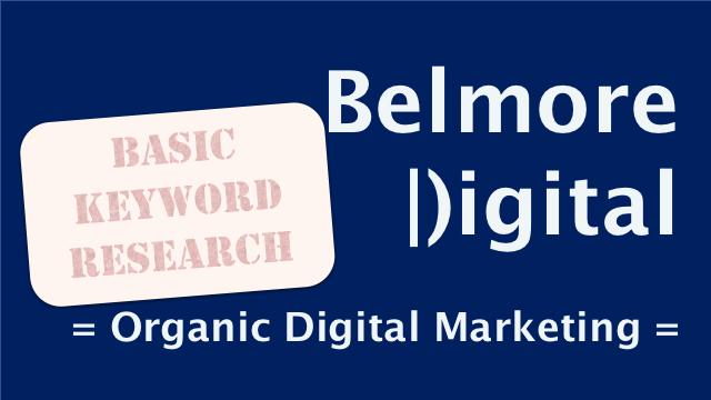 Basic SEO Guides Keyword Research