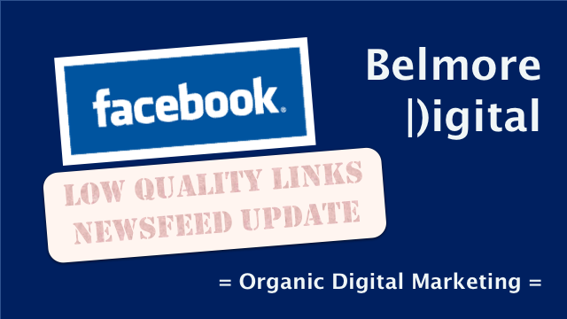 Facebook Reducing Low Quality Links