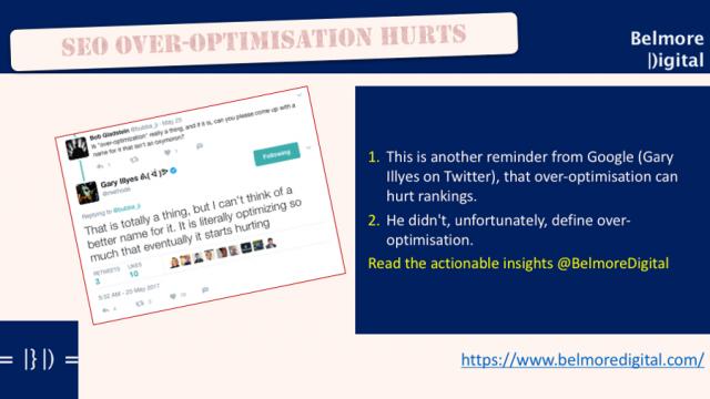 SEO Over Optimisation Hurts Rankings
