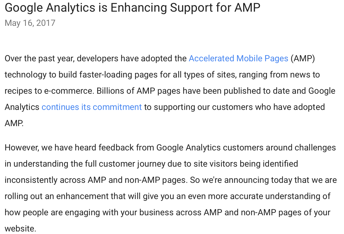 TWIS 19 May 2017 Google Analytics AMP Enhancements