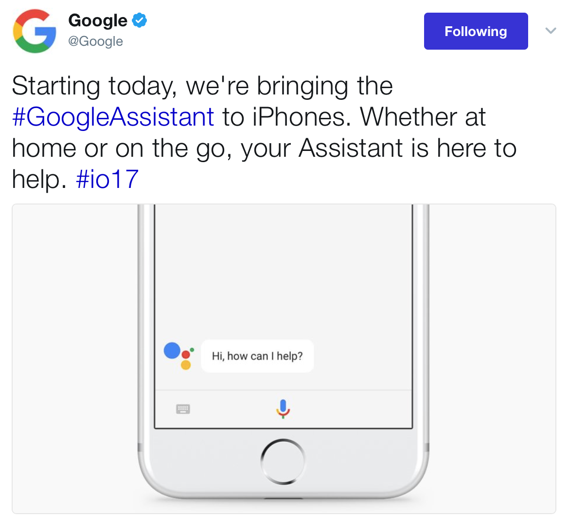 TWIS 19 May 2017 Google Assistant iPhones