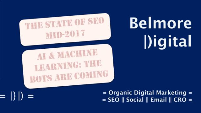 SEO Mid 2017 AI & Machine Learning