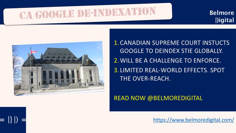 Canada Google Deindexation