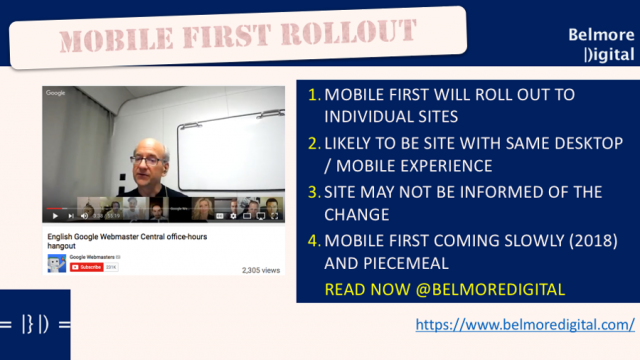 Google Mobile First Index Staged Rollout