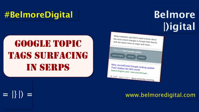 Google Topi Tags Surfacing in SERP