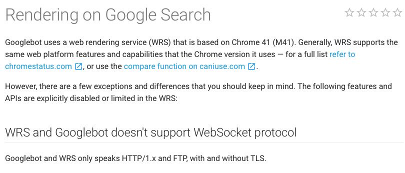 TWIS Googlebot Web Rendering Service