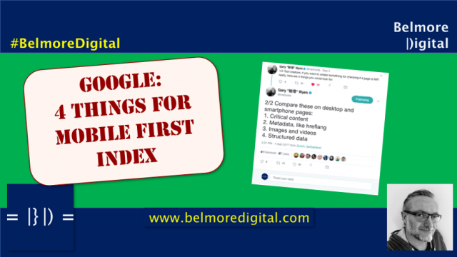 Google Critical Things For Mobile First Index