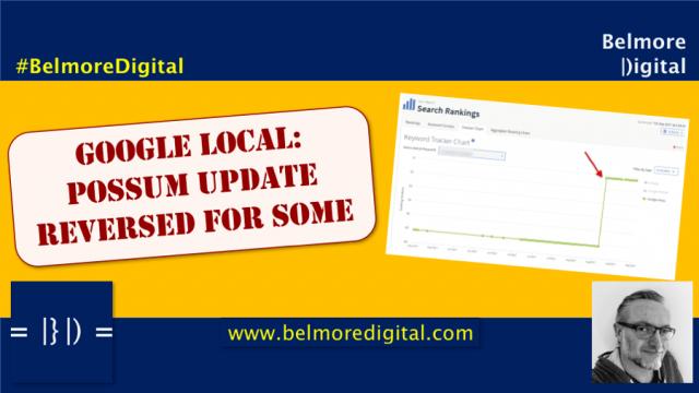 Google Local Possum Update Reversed