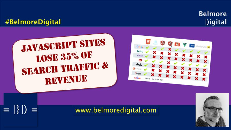 JavaScript Loses 35% of Search Traffic & Revenue