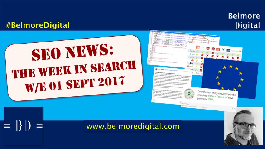 TWIS SEO News & Updates 01 Sept 2017