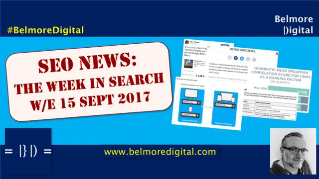 TWIS SEO News & Updates 15 Sept 2017
