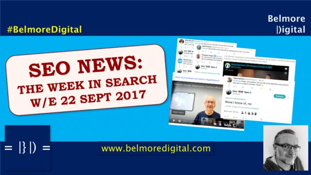 TWIS SEO News & Updates 22 Sept 2017
