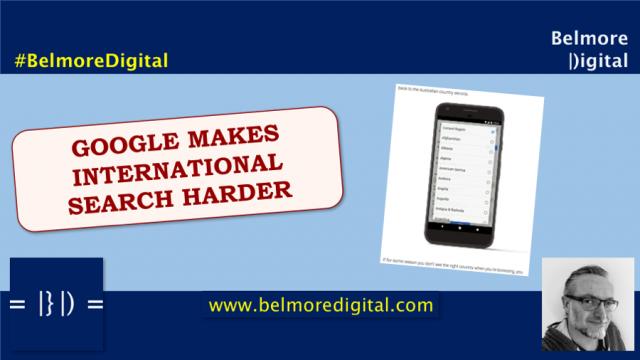 Google International Search Harder