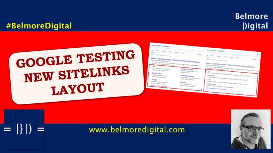 Google Testing New SiteLinks Layout