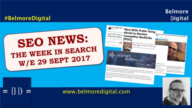 TWIS SEO News & Updates 29 Sept 2017