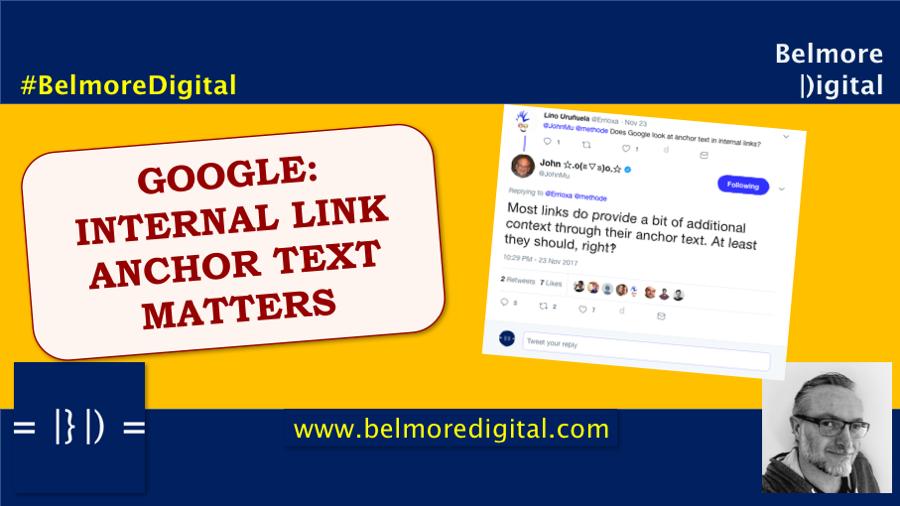 Google Internal Link Anchor Text Matters