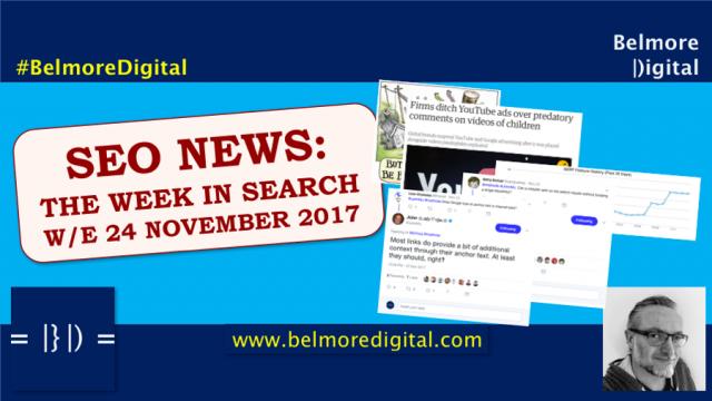 SEO News Updates 24th November 2017
