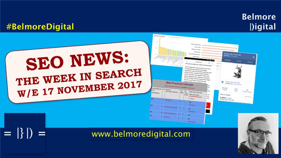 SEO News Updates 17 November 2017