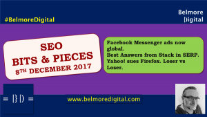 SEO Bits & Pieces 8th December 2017