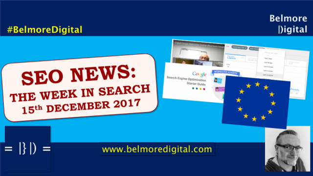 SEO News & Updates 15th December 2017