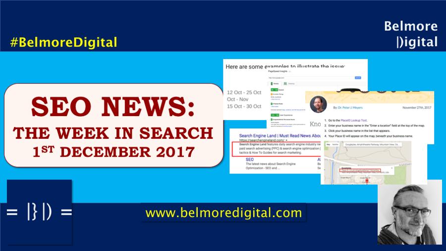 SEO News & Updates 1st December 2017
